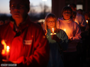 Hundreds took part in a vigil in Binghamton Sunday after an interfaith service for the victims of Friday's shooting.