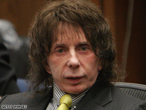 Phil Spector listens during closing arguments in his retrial on murder charges.