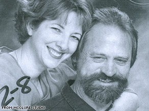 A studio proof shows professor George Zinkhan and his wife, Marie Bruce.