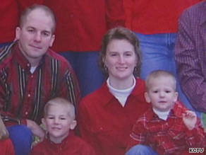Renee Pernice is pictured here with her two sons and husband, Shon.