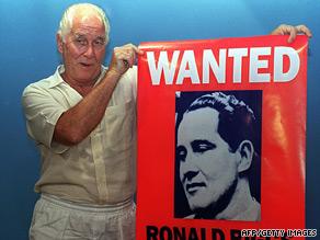 Ronnie Biggs, pictured at a book launch in Rio de Janeiro in 1994.