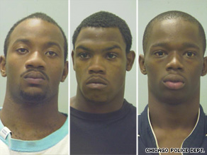 Eugene Riley, left, Silvanus Shannon, middle, and Eugene Bailey were charged with murder.