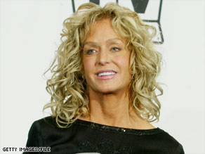 Farrah Fawcett, shown here in 2004, learned she had cancer in 2006.