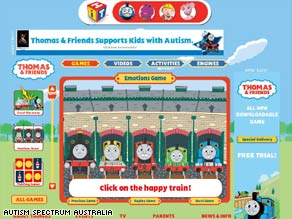 Thomas the Tank Engine is part of a new online game to help  autistic children recognize different emotions.