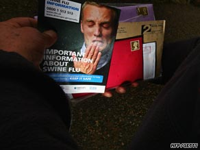Hundreds of thoussands of government information leaflets have been delivered to UK homes.