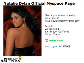 Natalie Dylan, 22, said she has put her virginity up for auction through the Moonlite Bunny Ranch.