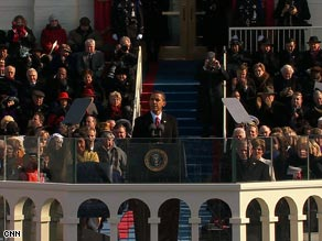 President Barack Obama takes office