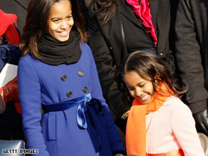 "The Bush twins told Sasha and Malia Obama to ""remember who your dad really is."""