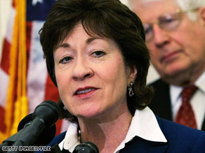 Sen. Susan Collins, R-Maine, says she wants to work on changes to the bill to attract moderate Republicans.
