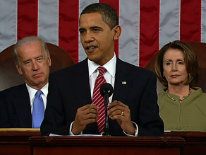 President Obama says the United States will overcome  its current economic struggles.