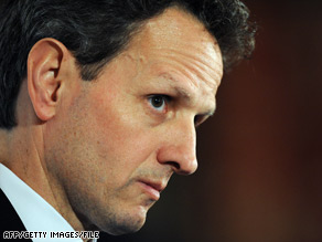 Treasury Secretary Timothy Geithner said AIG will have to return $165 million in bonuses for executives.