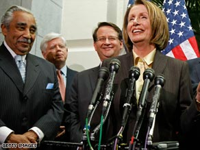 House Speaker Nancy Pelosi and House members Wednesday announce tax proposals affecting bonuses.
