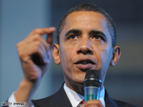 President Barack Obama speaks at a town hall meeting Thursday in California.