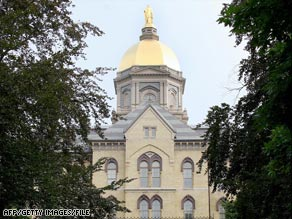 The University of Notre Dame says its invitation doesn't mean the university agrees with all of Obama's positions.
