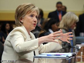 Hillary Clinton said Wednesday that Israel should halt its settlement activity.