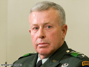 Gen. David McKiernan is being replaced as commander of NATO forces in Afghanistan.