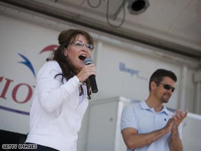 Sarah Palin appears at an autism fundraiser in New York earlier this week.