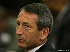 Gov. Mark Sanford was hiking along the Appalachian Trail, a spokesman said late Monday.