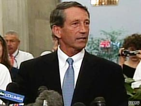 South Carolina Gov. Mark Sanford chokes up on Wednesday as he admits to having an affair.