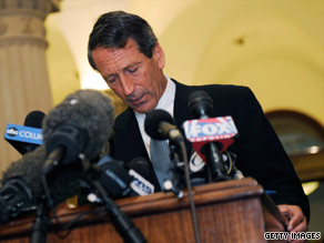 Gov. Mark Sanford admits to an affair at a news conference Wednesday at the state Capitol in Columbia.