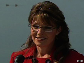 Alaska Gov. Sarah Palin announces she's stepping down this month.