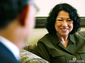Judge Sonia Sotomayor meets with Sen. Al Franken, D-Minnesota, in Washington last week.