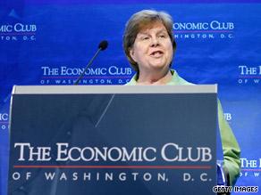 White House economic adviser Christina Romer speaks to The Economic Club in Washington on Thursday.