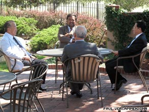 Gov. Bill Richardson meets with North Korean diplomats Wednesday in Santa Fe, New Mexico.
