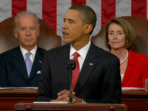 Fifty-six percent of people questioned say they had a very positive reaction to President Obama's speech.