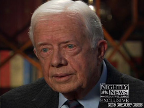 Former President Carter tells NBC Nightly News that racism has surfaced in opposition to President Obama.
