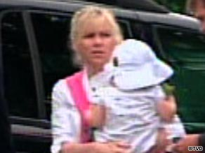 A video image shows Rielle Hunter arriving at the federal courthouse in Raleigh, North Carolina, on August 6.