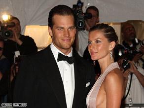 Tom Brady and Gisele Bundchen attend a Metropolitan Museum of Art gala May 5, 2008, in New York City.
