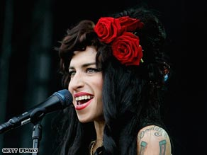 Amy Winehouse performs at last year's V Festival in Chelmsford, England.