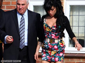 Amy Winehouse pictured outside Westminster Magistrates Court.
