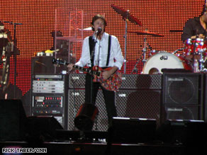 Paul McCartney performs at the Coachella Valley Music and Arts Festival in California in April.