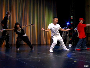 International hip-hop artists warm up for their show at the Kennedy Center for the Performing Arts on Tuesday.