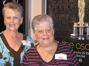 Sandi Stratton (left) and Babe Churchill will attend their 40th Academy Awards ceremony on Sunday.