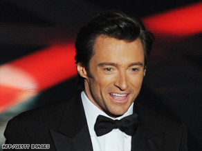 Hugh Jackman, the host of the 81st Academy Awards, speaks to the audience at the Kodak Theatre on Sunday.