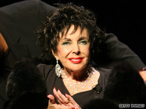 Elizabeth Taylor went to see Andrea Bocelli at the Hollywood Bowl, a rare outing for the film legend.