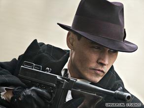 Depp is back as bank robber John Dillinger, revered in the Depression as a modern-day Robin Hood.
