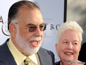 Eleanor Coppola with husband Francis. They have been married for 47 years.