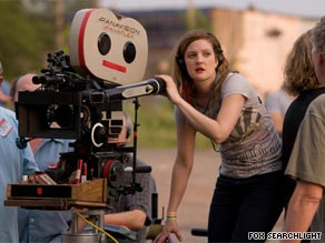 "Hollywood actress, producer and now, director, Drew Barrymore on the set of debut feature ""Whip It."""