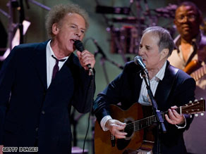 Art Garfunkel and Paul Simon, here performing at a 2007 gala, are planning to tour this summer.