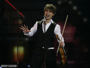 Alexander Rybak of Norway performs during the final of the Eurovision Song Contest Saturday in Moscow, Russia.