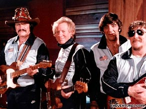 Bob Bogle (second from left) co-founded the Ventures, the highly influential instrumental band.