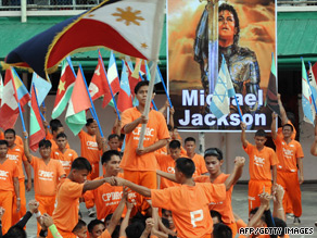 Inmates at the prison in Cebu perform their tribute to Michael Jackson Saturday.