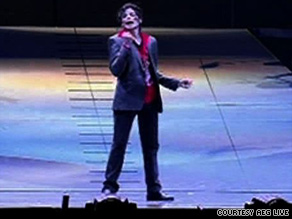 Michael Jackson is shown rehearsing at the Staples Center on June 23, two days before his death.
