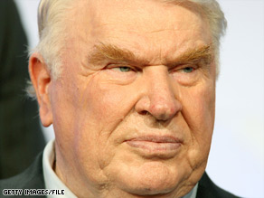 John Madden appears at the TV Critics Association Press Tour in Beverly Hills, California, in 2008.