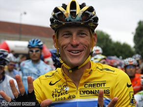 Armstrong remains on course to compete for an eighth Tour de France title despite breaking his collarbone.