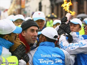 The London leg of last year's torch relay was marked by protests.